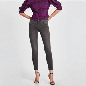 Zara Woman Premium Denim Dark Gray Skinny Jeans